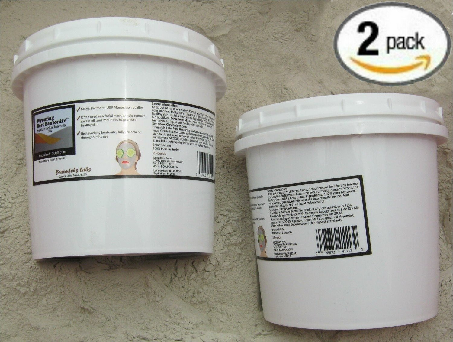 2 Pack ★ 4 Pounds Total (2x2lb) the Best Bentonite in the World From Wyoming