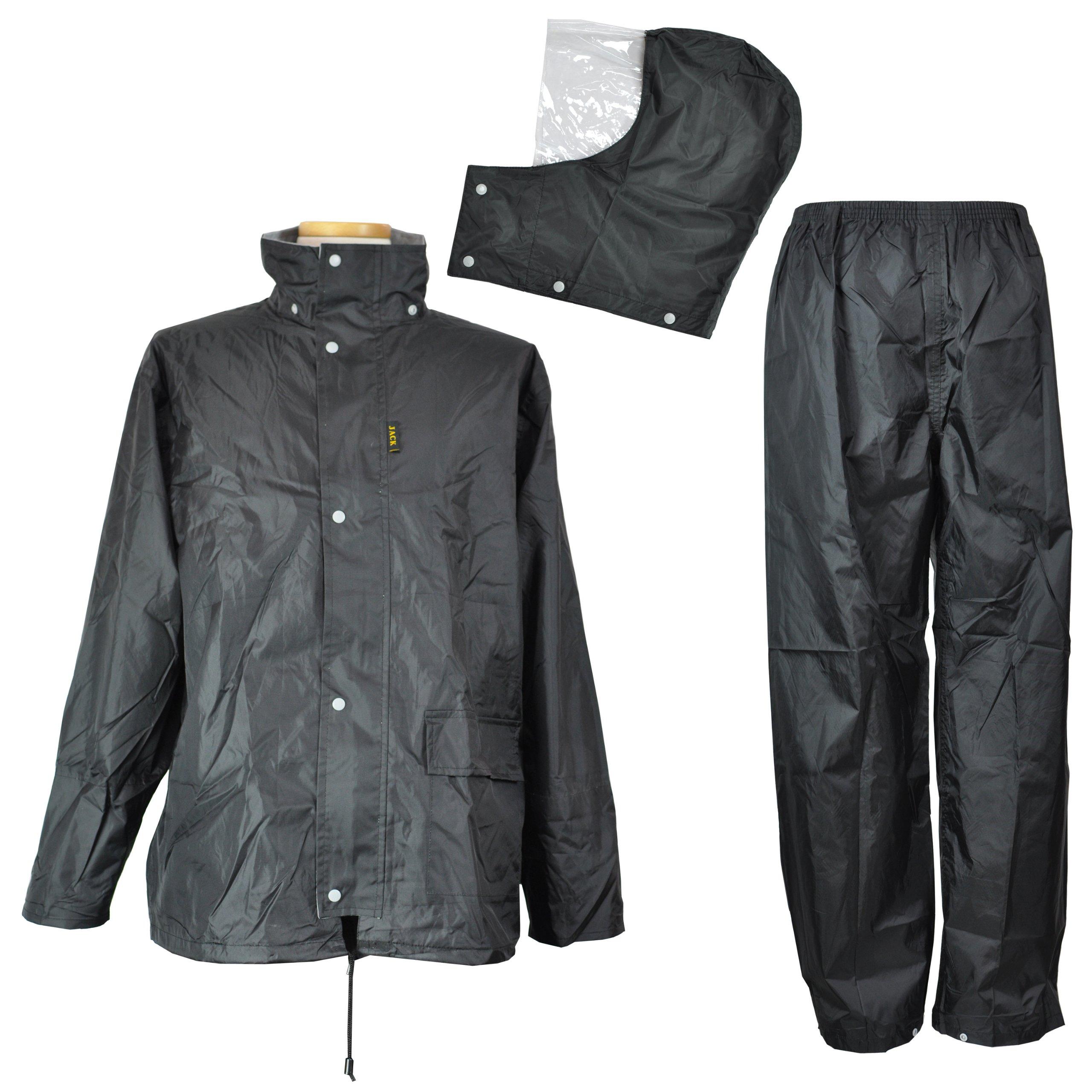 コヤナギ 【防水/耐水圧10000mm】 《二重袖・パンツ裾ボタン》 レインウェア FUNPLUSLIGHT FP-11