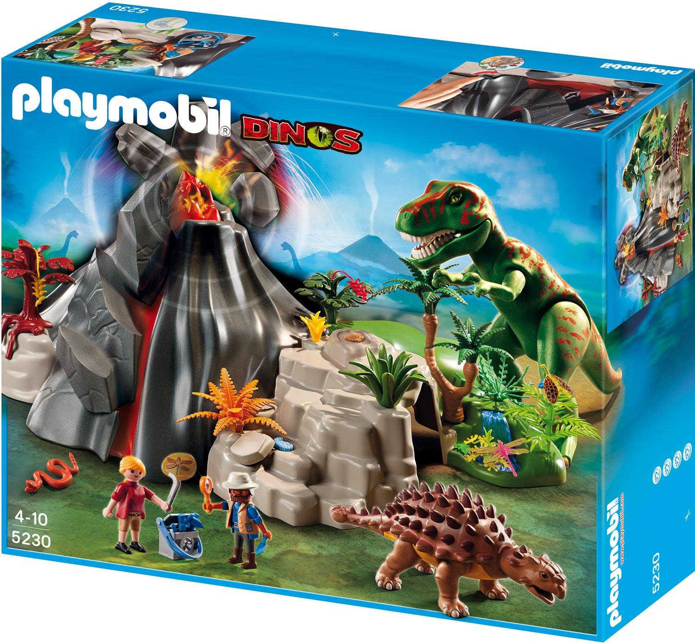 Playmobil t rex und saichania beim vulkan 5230 test - Dinosaure de jurassic park ...