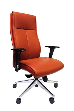 Lithos Ergonomic Leather Office Chair Active/Supportive/Ergonomics Swivel Height Adjustable Executive Leather Office Chair, Red