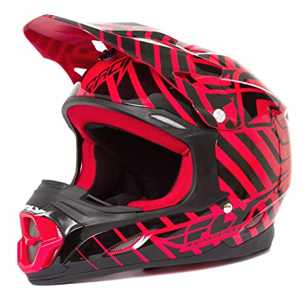 Fly three.4 2014 casque de motocross rouge/noir)