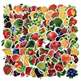 100PCS Colorful Fruits Vegetables Stickers Waterproof Laptop Stickers Car Bicycle Suitcase Computer Water Bottle Mobile Phone Stickers DIY Decals for Kids (Fruits 100) (Tamaño: Fruits 100)