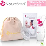 NatureBond Silicone Breastfeeding Manual Breast Pump Milk Saver Suction | BONUS Pump Stopper, Cover Lid, Pouch, Air-Tight Vacuum Sealed in Hardcover Gift Box. BPA Free & 100% Food Grade Silicone (Tamaño: 100 ML)