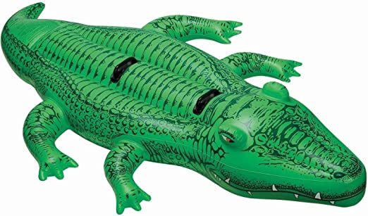 """Intex Giant Gator Ride-On, 80"""" X 45"""", for Ages 3+"""