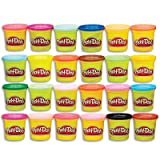 Play-Doh Modeling Compound 24-Pack Case of Colors, Non-Toxic, Multi-Color, 3-Ounce Cans, Ages 2 and up, Multicolor (Amazon Exclusive) (Color: Multicolor, Tamaño: 24 Pack)