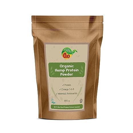 Vita-Go Hemp Protein Powder Organic Hanf Protein Pulver BIO 1kg