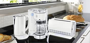 russell hobbs glass touch kaffeemaschine wei silber db747. Black Bedroom Furniture Sets. Home Design Ideas