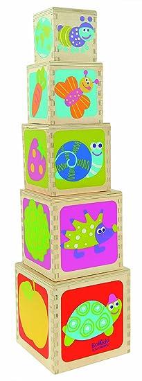 Boikido Jouet en Bois Pyramides 5 cubes