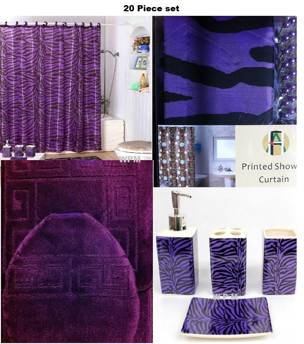 Purple Bathroom Accessory Set image