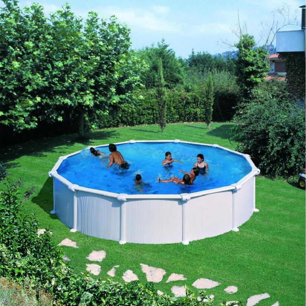 Pool Stahlwand Weiss online kaufen