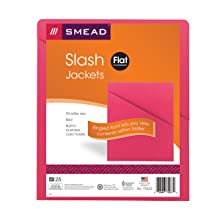 Smead Slash/Jacket, Letter, 11 Point, Red, 25 per Pack (75433)
