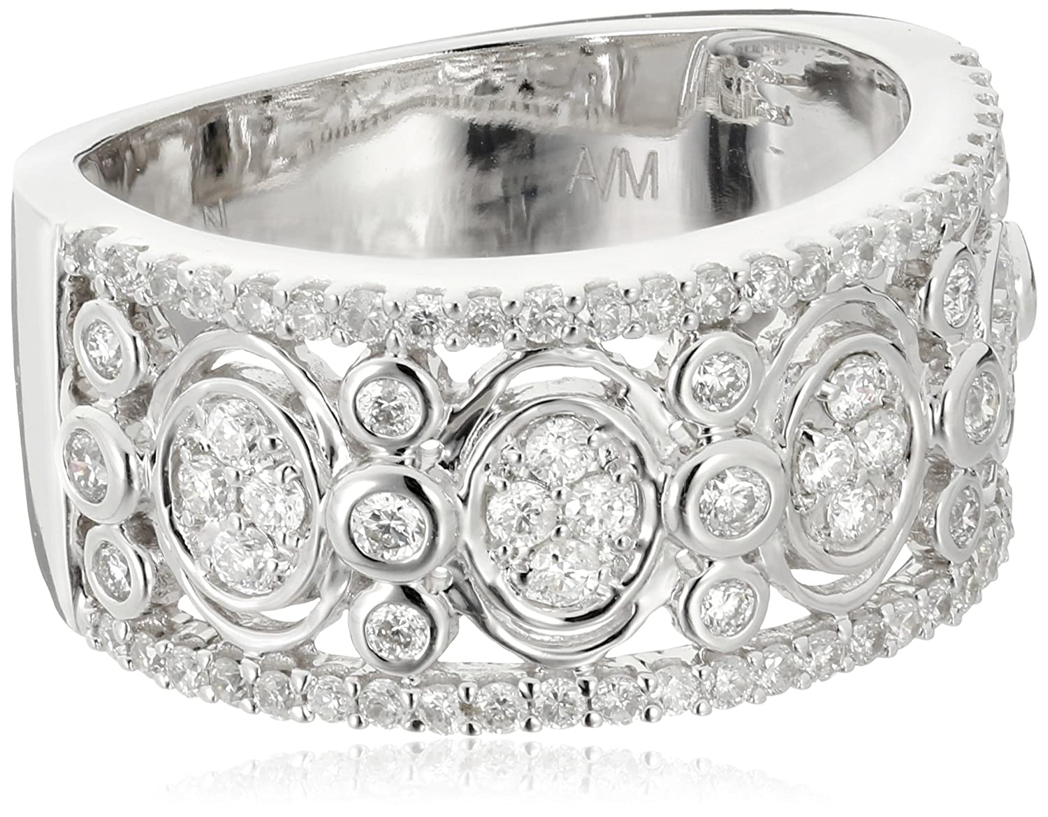 14k White Gold Diamond Cocktail Ring (5/8 cttw, H-I Color, I1-I2 Clarity)