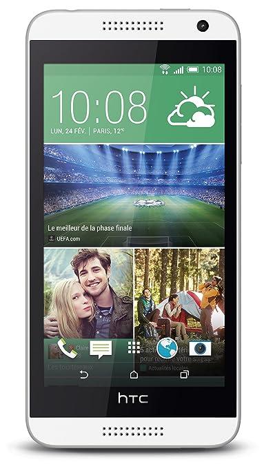 HTC Desire 610 Smartphone débloqué 4G (Ecran: 4.7 pouces - 8 Go - Android 4.4 KitKat) Blanc