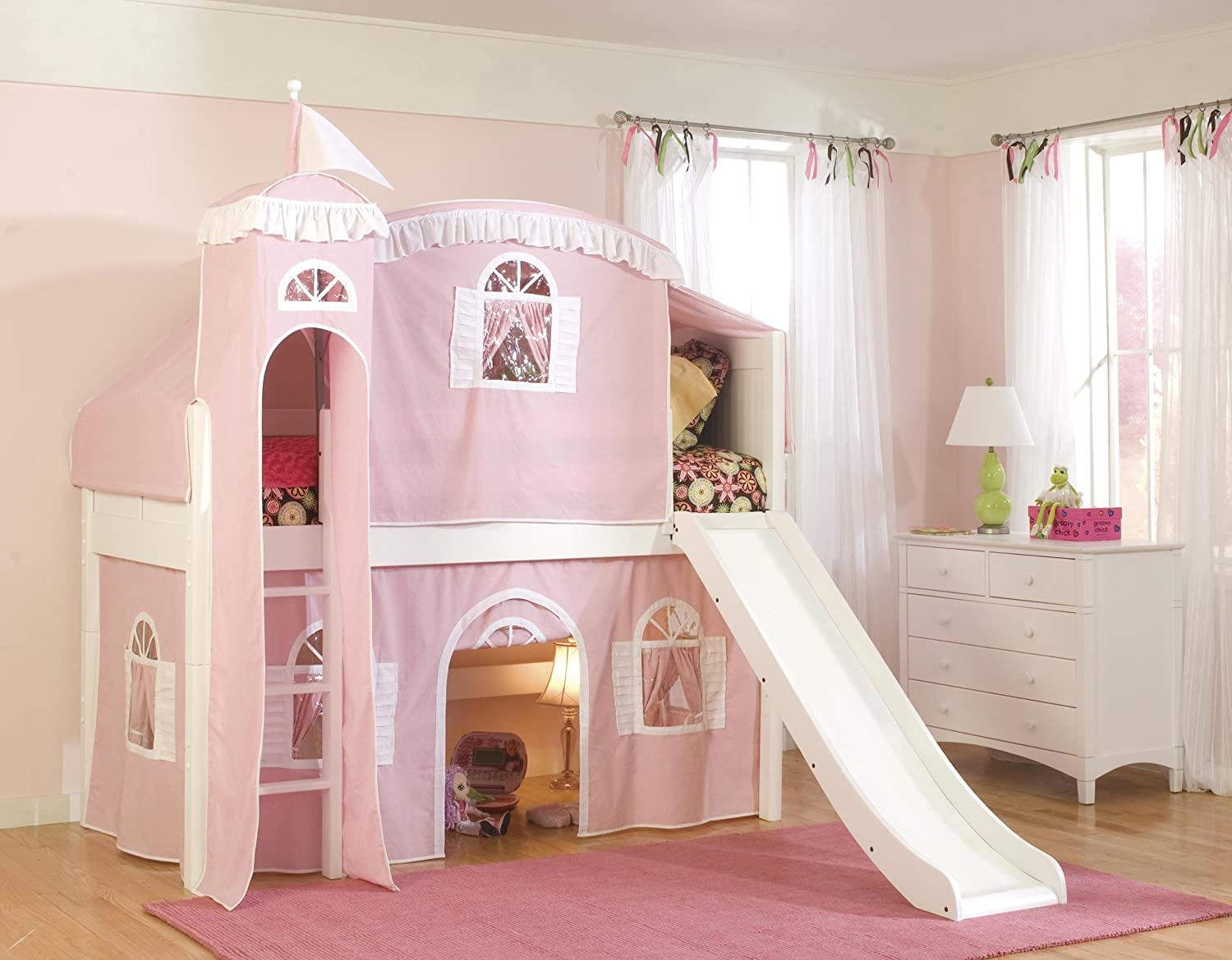 Loft Bed Girls : girls castle bed with slide