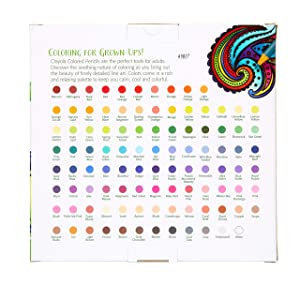Crayola 100 Count Colored Pencils, Amazon Exclusive Colors, Adult Coloring, Gift, Multi