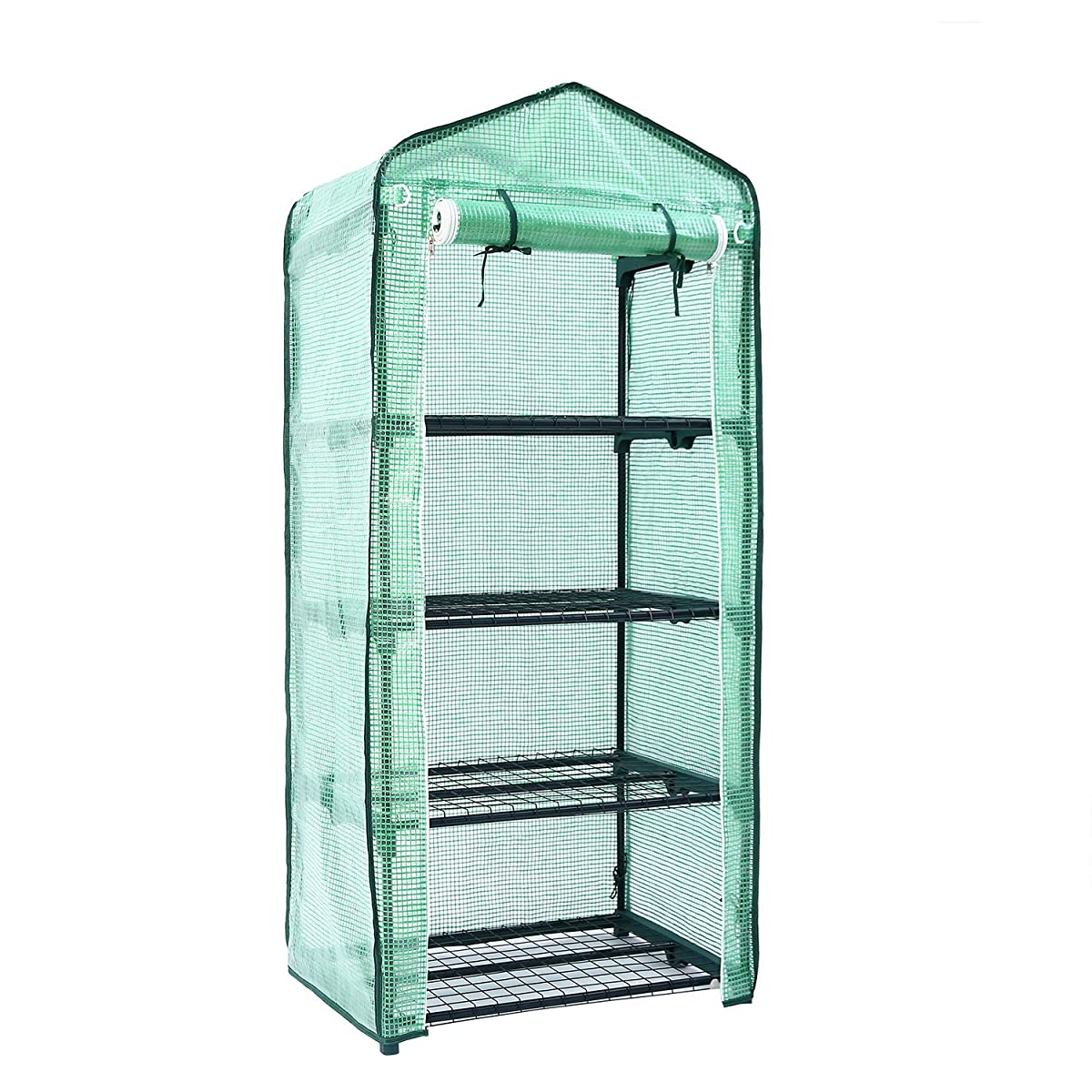 "Mini Greenhouse, Ohuhu Small Plant Greenhouses, 4 Tier Rack Stands Portable Garden Green House for Outdoor & Indoor, 27"" Long x 18"" Wide x 63"" High"