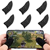 Newseego Mobile Game Controller Finger Sleeve Sets [6 Pack], Anti-Sweat Breathable Full Touch Screen Sensitive Shoot Aim Joysticks Finger Set for PUBG/Knives Out/Rules of Survival-Black (Color: Black)