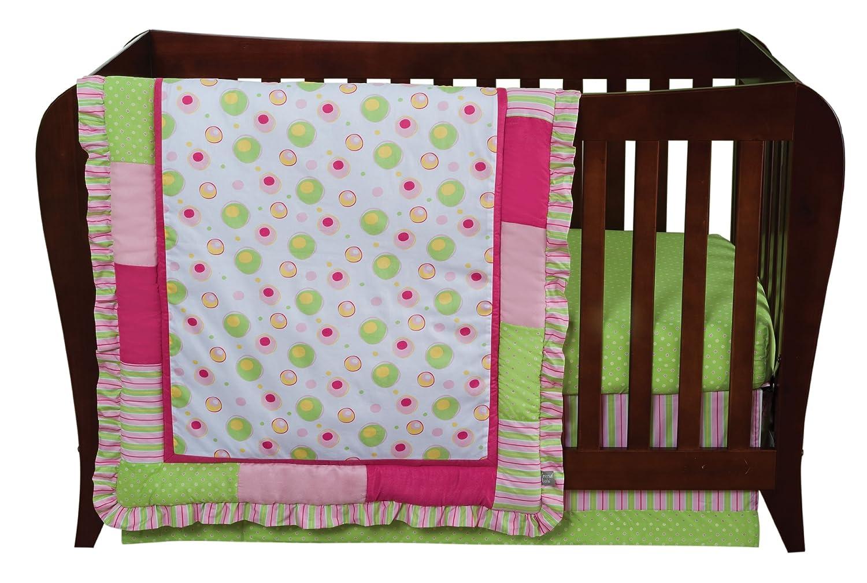 Trend Lab 3 Piece Crib Bedding Set, Splash Pink