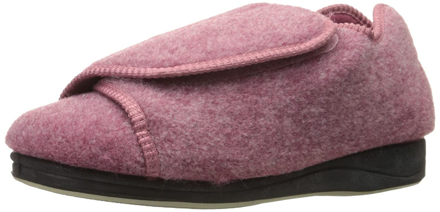 Womens Extra Extra Wide Width Adaptive Slippers - Diabetic - Dusty Rose 8
