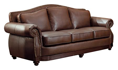Homelegance 9616BRW-3 Sofa, Dark Brown Bonded Leather