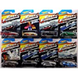 2015 Hot Wheels Fast & Furious - 69 Dodge Charger Daytona, 94 Toyota Supra, 70 Dodge Charger R/T, 72 Ford Grand Torino Sport, Nissan 350Z, Buick Grand National, Subaru WRX STI, Ford GT-40 - Complete Set of 8!!
