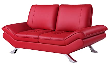 Global Furniture Natalie Loveseat with Backrest with Function, Red