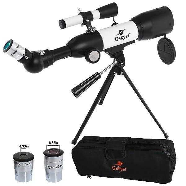 Gskyer Telescope, AZ50350 German Technology Telescope, Travel Refractor Telescope for Kids (Tamaño: AZ 50350)