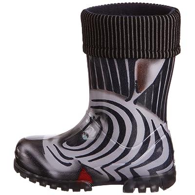 Toughees Shoes Kids Warm Fleece-sock Zebra Wellies Wellingtons Boot