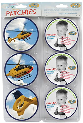 School-Mood Patchies Helicopter Blue