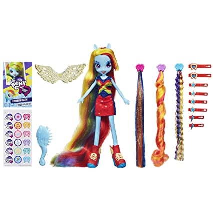 My Little Pony Equestria Girls Rainbow Dash Hairstyling Doll