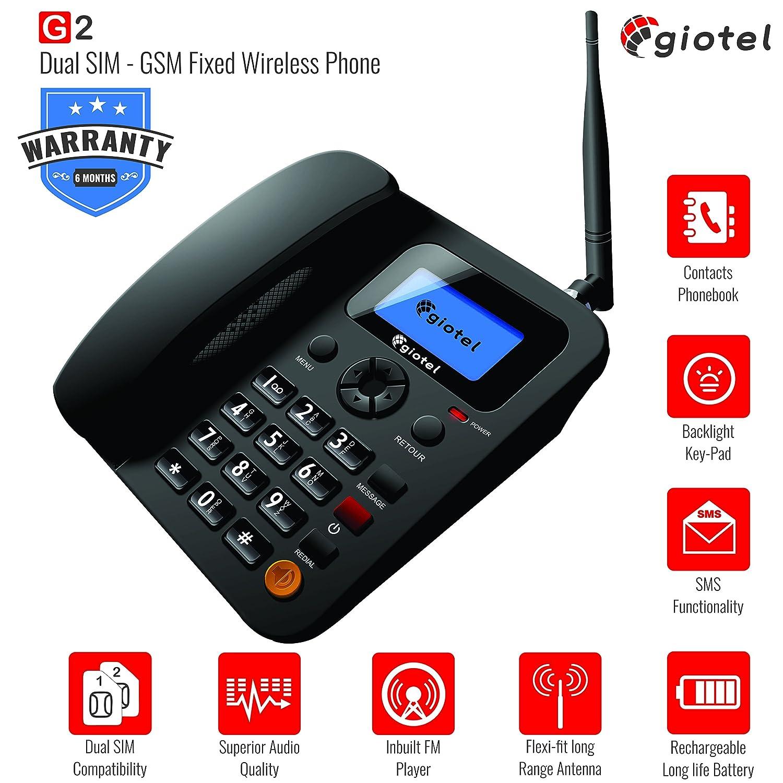 Huawei f501 gsm wireless landline phone any type of gsm sim cards fwp - Giotel G2 Gsm Dual Sim Fixed Wireless Phone