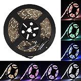 SUPERNIGHT 16.4ft 5050 300leds Waterproof RGBW LED Strip Flexible Light - Black Roll (Color: RGBW)