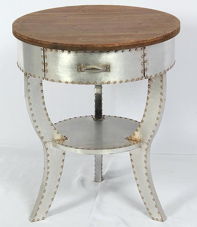 Phoenixarts 507 - Tavolino da caffè, stile industriale, vintage