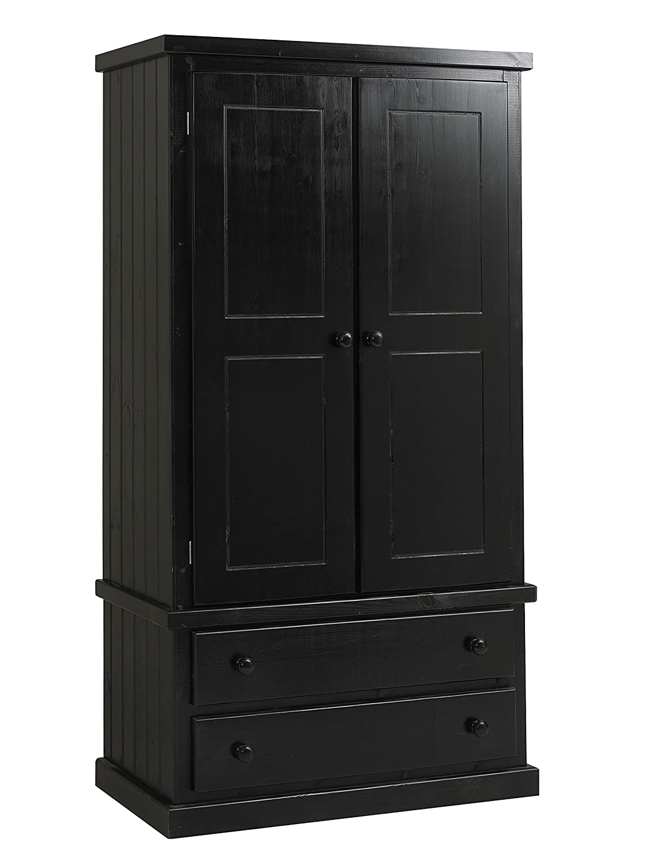 ready assembled bedroom furniture black solid pine 4