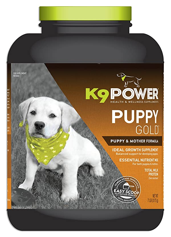 K9 Power Puppy Gold - Nutritional Supplement for Growing Puppies - 7 lb (Color: Mix, Tamaño: 7 lb)
