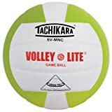 Tachikara Volley-Lite Training Volleyball, Lime Green/White