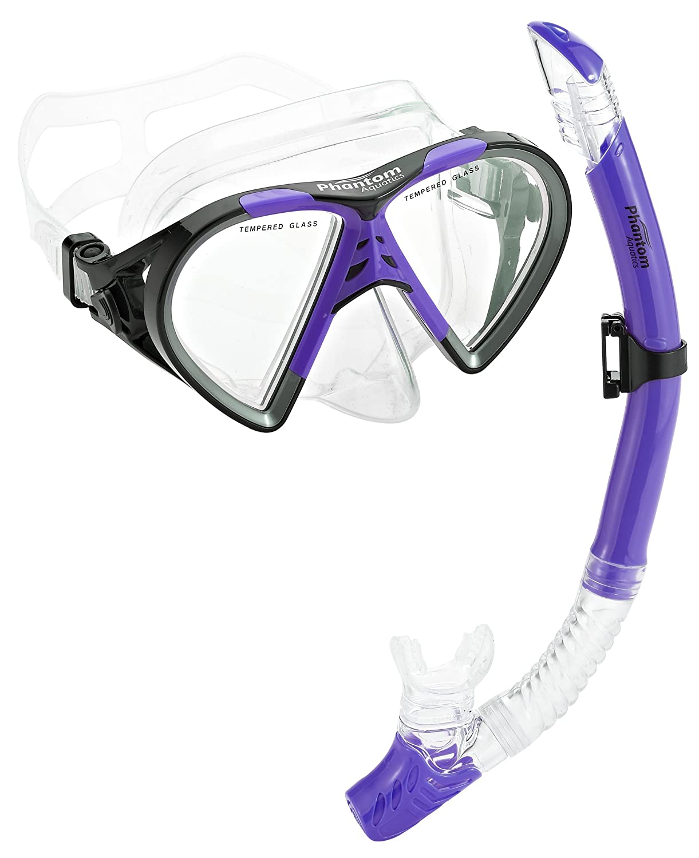 Phantom Aquatics Cancun Mask Snorkel Set, Great for Scuba Snorkeling & Swim