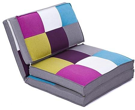 Cama plegable colchón sofá cama cuna ArtDeco sillón infantil multicolor