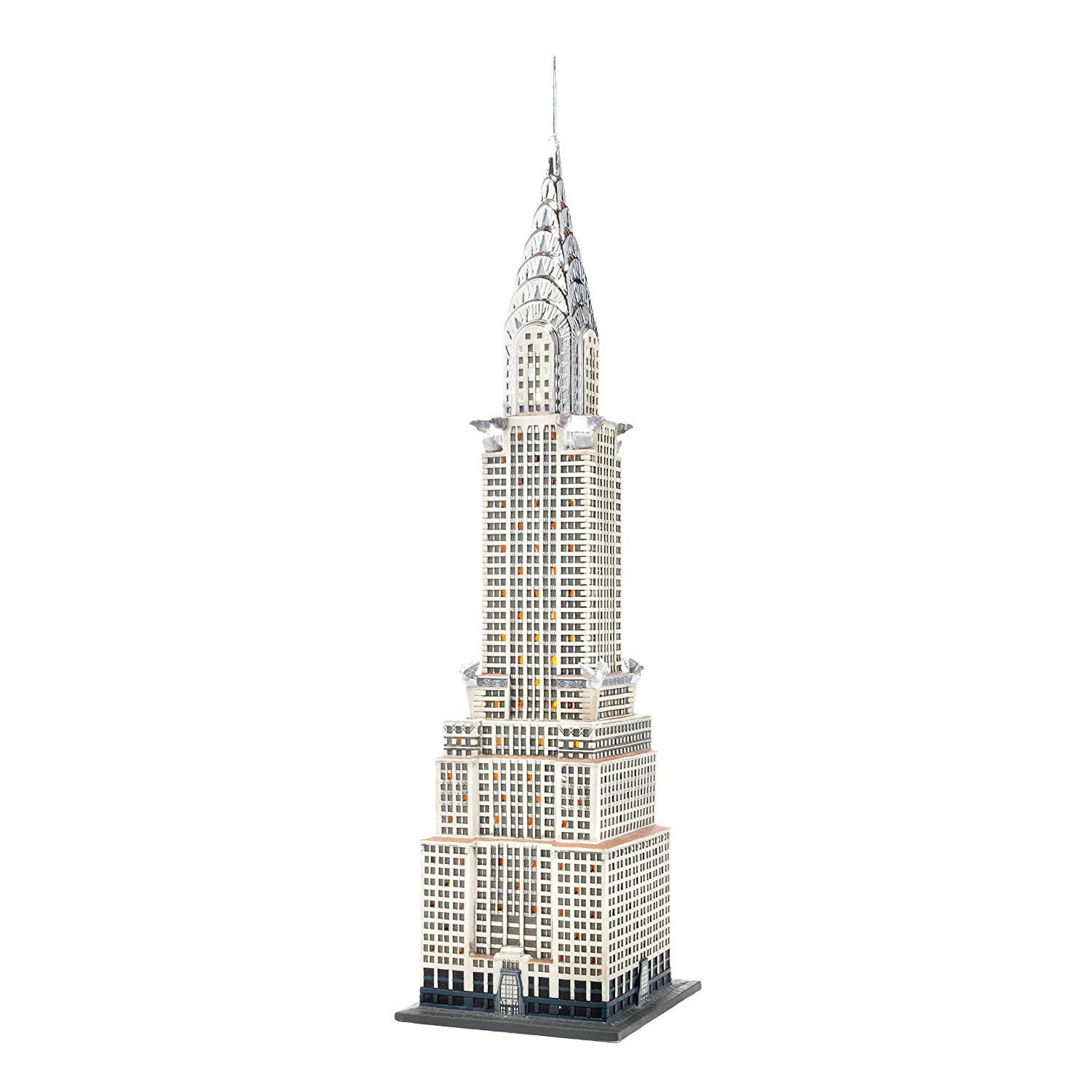 department 56 christmas in the city the chrysler building ebay. Black Bedroom Furniture Sets. Home Design Ideas