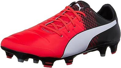cd4fc192a202 PUMA Men's Evopower 1.3 Tricks FG Soccer Shoe, Red Blast/Puma White, 8