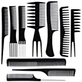 BS-MALL 10PCS Hair Stylists Professional Styling Comb Set Variety Pack Great for All Hair Types & Styles