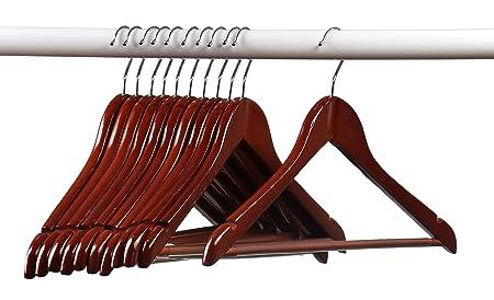 Home-it (24) Pack Solid Wood Clothes Hangers, Coat Hanger Light Cherry Wooden