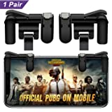 AOJOYS Mobile Game Controller, PUBG Game Controller for Phone R1L1 Mobile Gaming Trigger for Fortnite/Rules of Survival (Color: Black, Tamaño: Small)