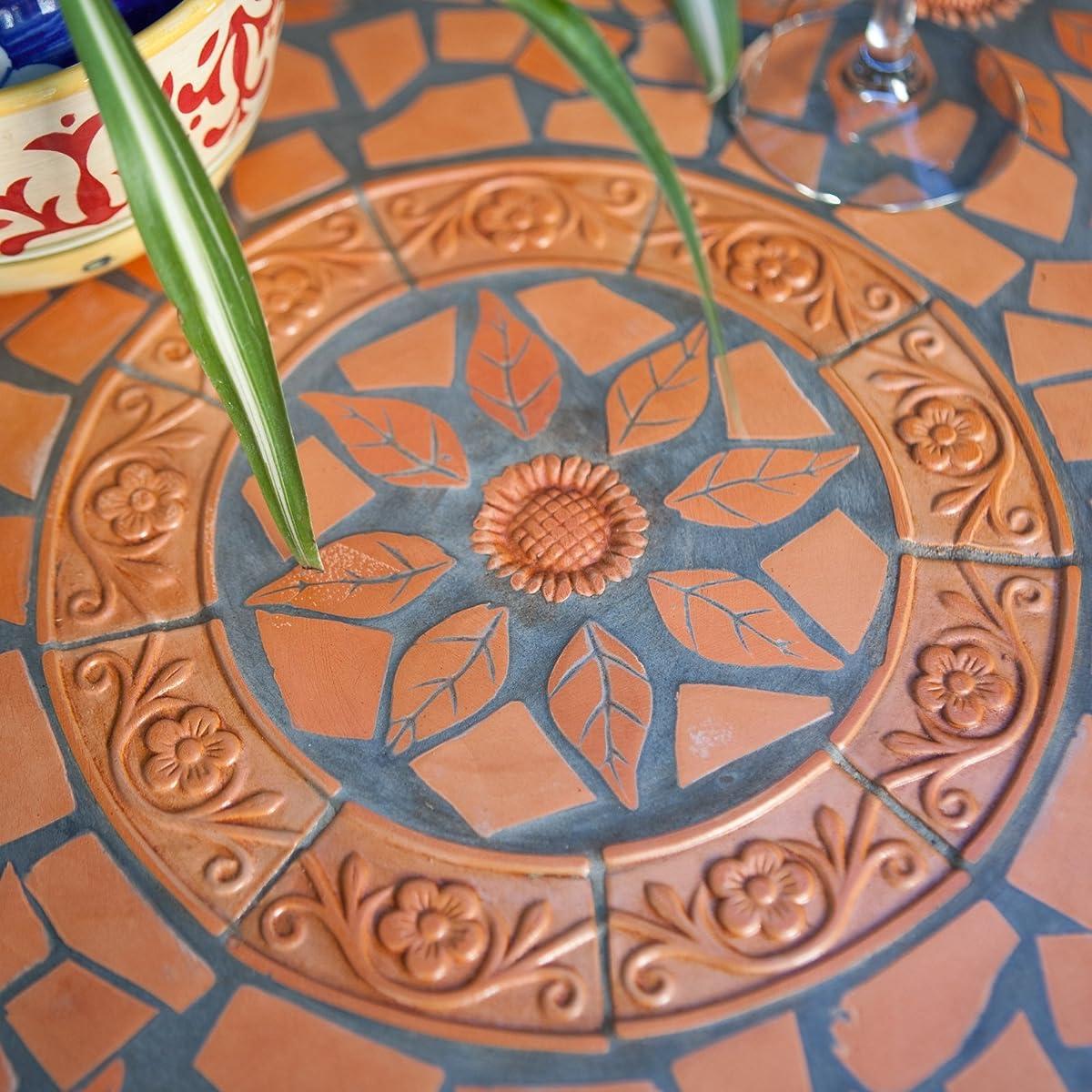 Coral Coast Terra Cotta Mosaic Bistro Table