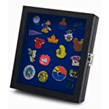 Hobbymaster Pin Collector's Compact Display Case for Disney, Hard Rock, Olympic, Political Campaign & Other Collectible pins, Holds 20-50 pins (Blue) (Color: Blue)
