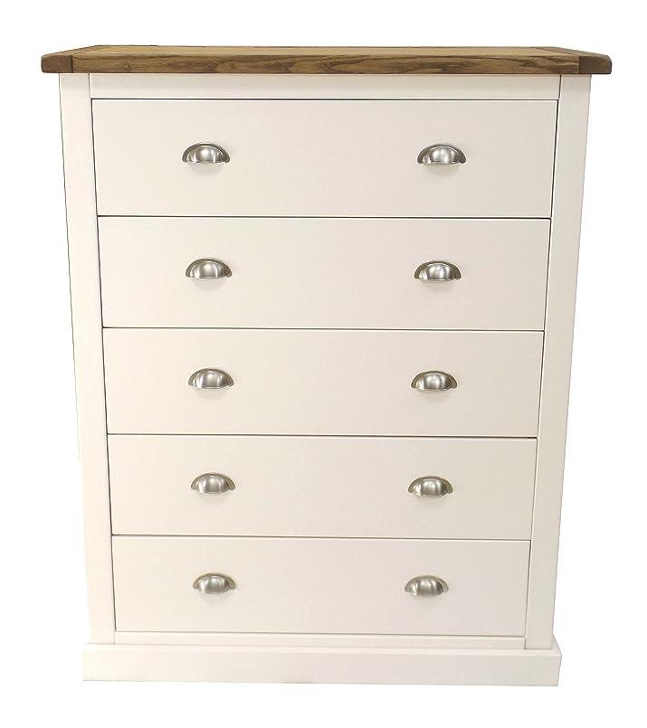"""Armadio punte """"floreale a  cassetti con maniglia cromata/quadrato gonna, legno, bianco"""