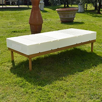 Luxor Latex Matelas H20 cm amovible, 100% latex a zones, Tissu Coolmax lit simple 120x200