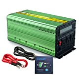 EDECOA 1500 Watt Peak 3000 Watt Power Inverter Pure Sine Wave DC 12V to 110V AC with LCD Display and Remote