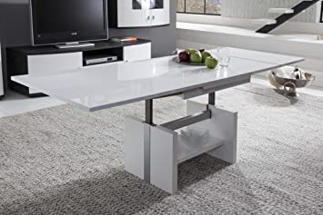 S Presto Mobilia 11716 Hardi Hardi 08 Table Basse Blanc