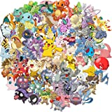 Pokemon Stickers Best Gift for Kids Children Teens Cartoon Stickers Pack for Home Decor Diary Hydro Flasks Water Bottle Graffiti Japanese Anime Stickers 100pcs (Color: Blue)